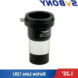 "SVBONY 1.25"" 2X Barlow Lens Telescope Eyepiece Astronomy/T A"
