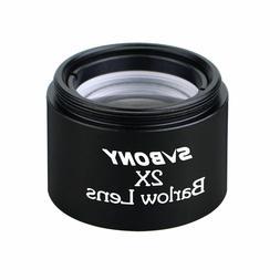 """1.25"""" 2X Barlow Lens M28.6*0.6 pitch Thread for 1.25Inch Tel"""