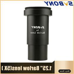 "1.25""/31.7mm Metal 5X Barlow Lens Thread M42 * 0.75 Pitch fo"