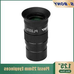 """SVBONY 1.25"""" Plossl 25mm Telescope Eyepieces Lenses FMC For"""
