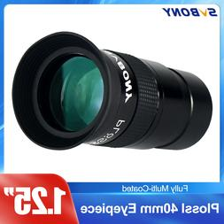 """SVBONY 1.25"""" Plossl Eyepiece 40mm Green Coated FC For Astron"""