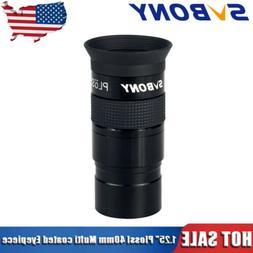 "SVBONY1.25""Plossl 40mm Eyepiece Multi Green Coated For Astro"