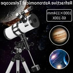 114-1000 Reflector Astronomical Telescope Space Moon Star Ob