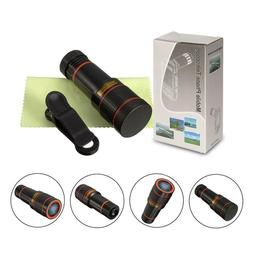 12x Optical Zoom Lens Telescope Telephoto Clip on For Mobile