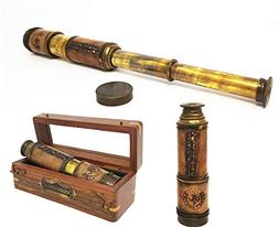 Brass Nautical - 14 inches Antique Telescope / Spyglass Repl