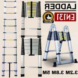 16.5FT Aluminum Multi Purpose Telescopic Ladder Extension Fo