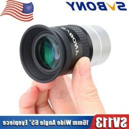 "SVBONY 16mm Eyepieces WA 65° wide-angle FMC 1.25"" 31.7mm As"