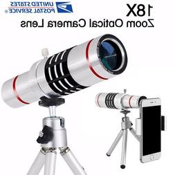 18x Optical Zoom Telescope Camera Lens Kit Tripod For Cell P