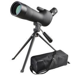 20-60x60mm Zoom Angled Spotting Scope Monocular Telescope wi