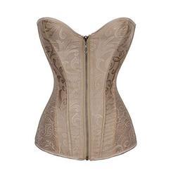BOLUOYI 2019 Lingerie Women Underbust Zipper Bandage Waist T