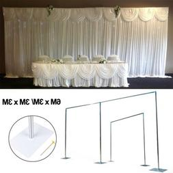 20ft/ 10ft Telescopic Economy Wedding Backdrop Stand Curtain