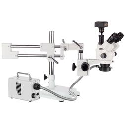 3.5X-90X Simul-Focal Stereo Lockable Zoom Microscope on Dual