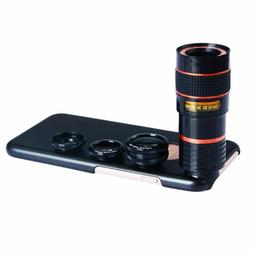 Apexel 4 in 1 Supreme Camera Lens 8x Telescope Lens/Fisheye