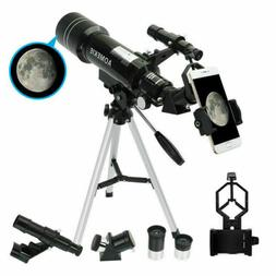 40070 Telescope with Tripod Phone Adapter 16X/66X Moon Watch
