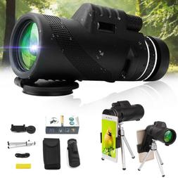 40X60 Zoom Optical HD Lens Monocular Telescope + Tripod +Cli