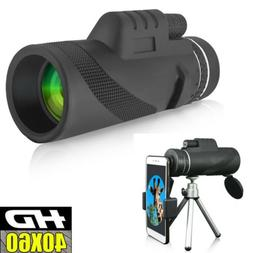 40X60 Zoom Optical HD Night Vision Monocular Telescope +Trip