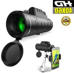 40X60 Zoom Optical HD Monocular Telescope+Tripod+Clip for Ou