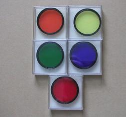 5 Celestron telescope color filters 2 inch