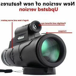 50x60 Portable HD Optical Monocular Day / Night Vision Teles
