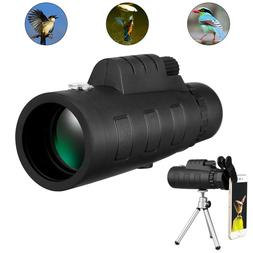 50X60 Zoom Optical 18X HD Lens Monocular Telescope + Tripod