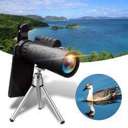 50X60 Zoom Optical Lens Monocular Telescope + Clip + Tripod