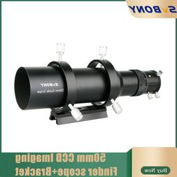 """SVBONY 60mm Compact Deluxe Guide Scope Finderscope+1.25""""Doub"""