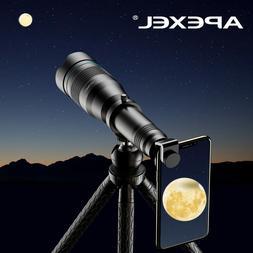 APEXEL 60X Phone Monocular Telescope Lens with Extendable Tr