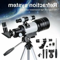 70mm 150X Professional Astronomical Telescope Refractor w/ T