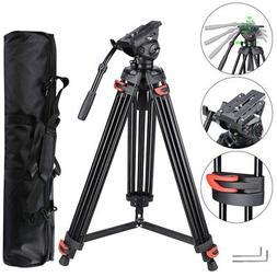 "71"" Professional DV Video Camera Aluminum Adjustable Tripod"