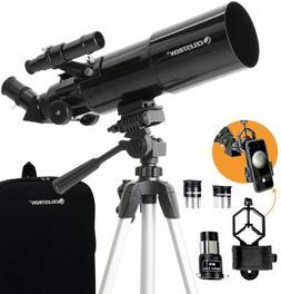 Celestron - 80mm Travel Scope - Portable Refractor Telescope