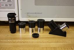 ".965"" Telescope Eyepiece 6mm 12.5 20mm, 2x Barlow, 90 Deg Di"