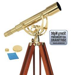 Celestron 22303 Ambassador 50 Brass Telescope