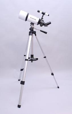 White TwinStar AstroMark 80mm Dual Tripod Refractor Telescop