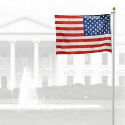 Aluminum Flag Staff Solid USA Army Mast Set Home Backyard Le