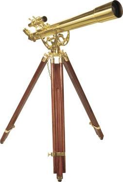 BARSKA Anchormaster 28x60m Brass Refractor Telescope w/ Maho