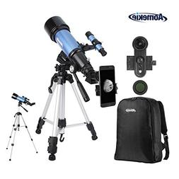Aomekie Telescope for Adults Kids Astronomy Beginners 70mm R