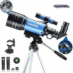 Aomekie Telescope for Kids Adults Astronomy Beginners 70mm R