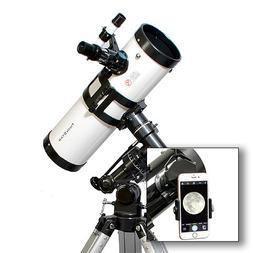 "AstroVenture 4.5"" Reflector Telescope With Universal Smartph"