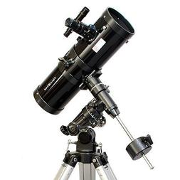 "Black TwinStar 4.5"" Reflector Telescope Fast f/4.4 EQ Mount"