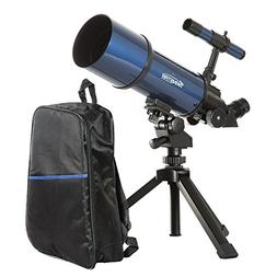 Blue TwinStar AstroMark 80mm 16-40x Power Portable Refractor