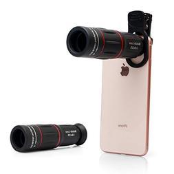 Cell Phone Lens, Universal 18X Optical Zoom Lens Manual Tele