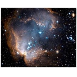 Star Cluster NGC 602 Photo from Hubble Telescope - 11x14 Unf