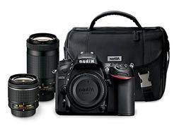 "Nikon D7200 24.2 MP Dual Zoom Lens Kit with 3.2"" LCD, Black"