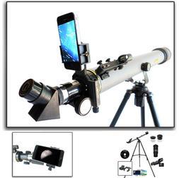 Cassini 800mm x 60mm Day/Night Telescope with Smartphone Ada