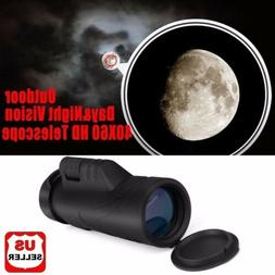 Outdoor Day&Night Vision 40X60 HD Optical Monocular Hunting