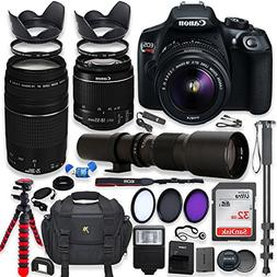 Canon EOS Rebel T6 DSLR Camera with 18-55mm IS II Lens Bundl