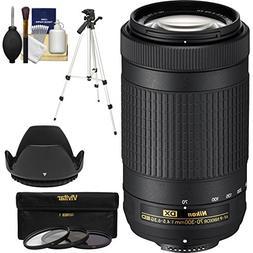 Nikon 70-300mm f/4.5-6.3G DX AF-P ED Zoom-Nikkor Lens with 3