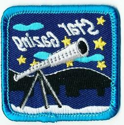 Girl Boy Cub STAR GAZING telescope Fun Patches Crests Badges