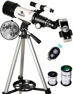 Gskyer Telescope Travel Scope 70mm Aperture 400mm AZ Mount A