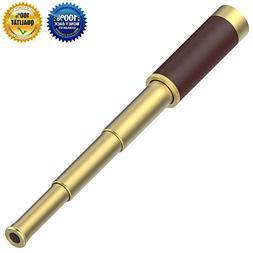 VAKO Pirate Telescope Collapsible Brass Handheld Monocular S